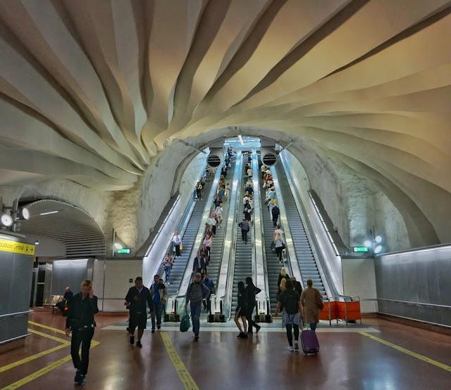 estação de trens em Estocolmo