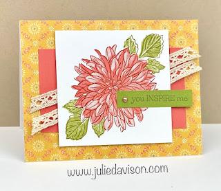 Stampin' Up! Delicate Dahlias Card ~ Stampin' Up! Sale-a-Bration 2021 ~ www.juliedavison.com