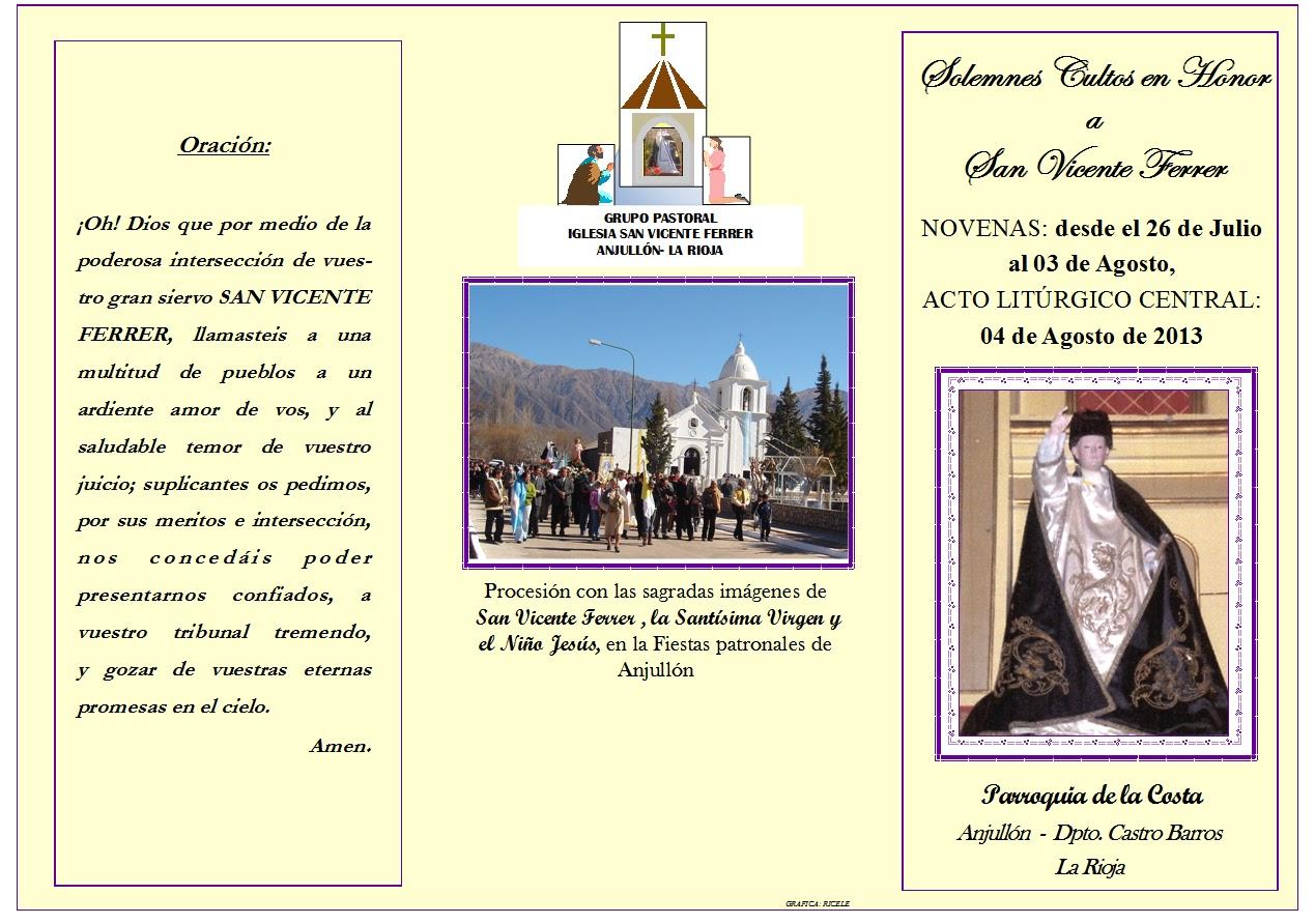 Anjullon Online Hoy Comienzan Las Novenas En Honor A