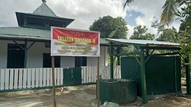 Tokoh Agama Bulupoddo Puji Program Satgas TMMD 105 Kodim 1424/Sinjai Pengecetan Masjid