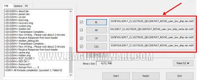 Input Firmware 4 file di odin