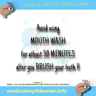 MOUTH WASH - benefits, side effects. Best time to use mouth wash?