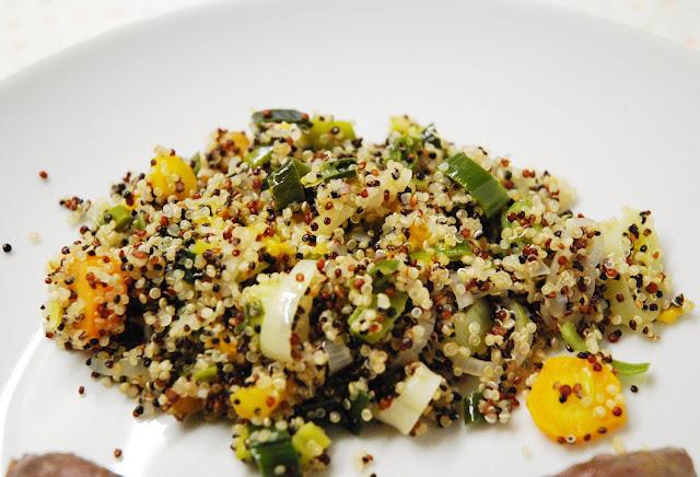 Quinoa aux poireaux et carottes à l'orange