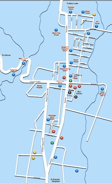 Gambar Peta Wisata Kabupaten Bangli Bali