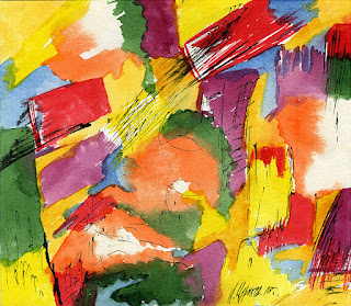 Абстрактная акварель - Abstraction watercolors - Modern Art