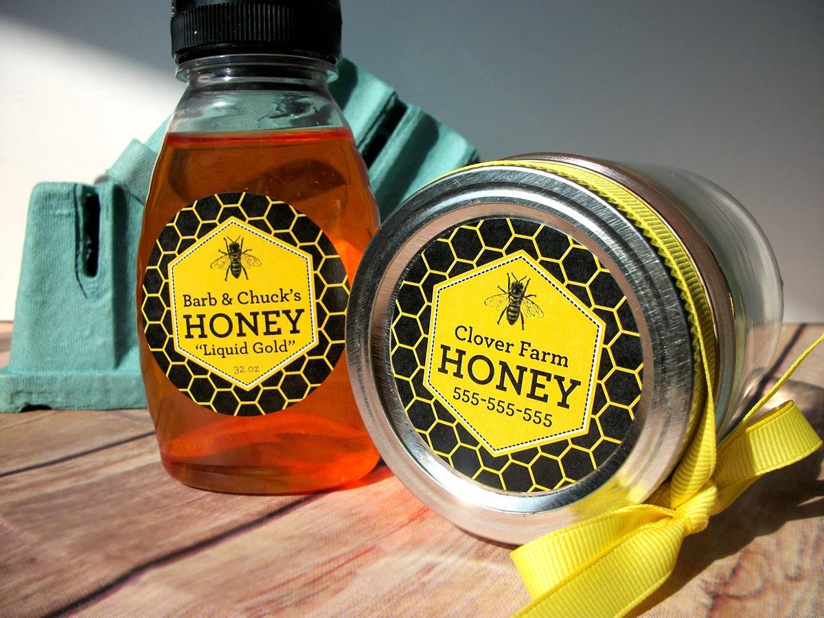 custom honey labels