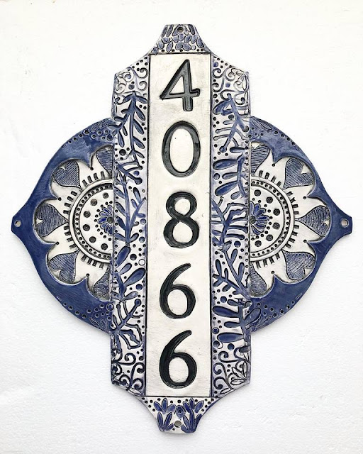 Custom Home Address - New Home Address - Ceramic Address Plaque