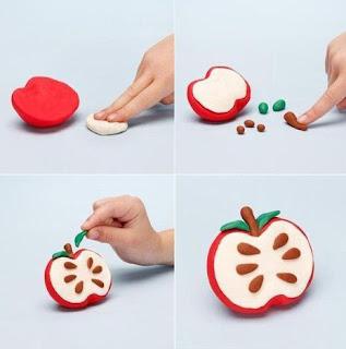 manzana de plastilina