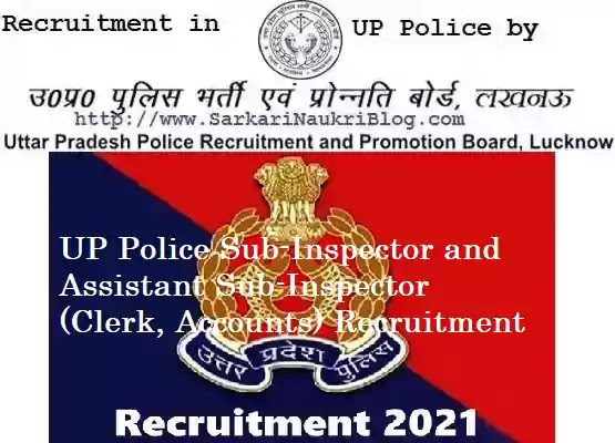 UP Police PAC SI ASI Vacancy Recruitment 2021