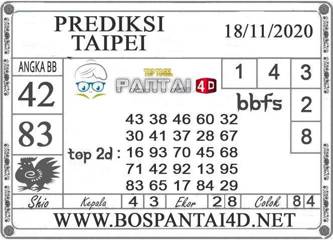 PREDIKSI TOGEL TAIPEI PANTAI4D 18 NOVEMBER 2020