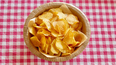 Pari-Pari Baked Potato Chips (Healthy, Crispy yet Delicious)