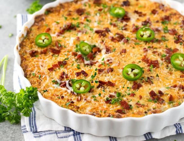 Cheesy Jalapeno Popper Dip #dinnerrecipe #food #amazingrecipe
