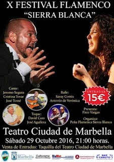 Resultado de imagen de x festival flamenco sierra blanca