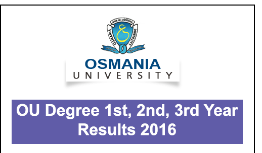 OU Degree 1st, 2nd, 3rd Year Results 2016 For B.A/B.COM/B.SC/BBA @ osmania.ac.in OU Degree Results 2016 : Osmania University Degree 1st, 2nd, 3rd Year Results 2016 For B.A/B.COM/B.SC/BBA at osmania.ac.in, manabadi.com, schools9.com. Manabadi OU Degree Results 2016, Schools9 OU Degree Results 2016, OU Degree 1st Year Results 2016, OU Degree 2nd Year Results 2016, OU Degree 3rd Year Results 2016, OU Degree Results 2016, ou ug results 2016, Osmania University degree results 2016./2016/05/ou-degree-1st-2nd-3rd-year-results-2016for-ba-bcom-bsc-bba.html