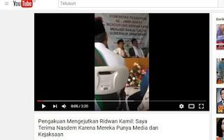 Video Ridwan Kamil Pilih Nasdem karena Punya Media dan Kejaksaan