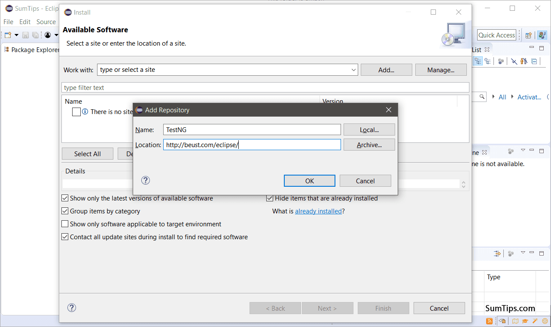 Install TestNG via Repository 4