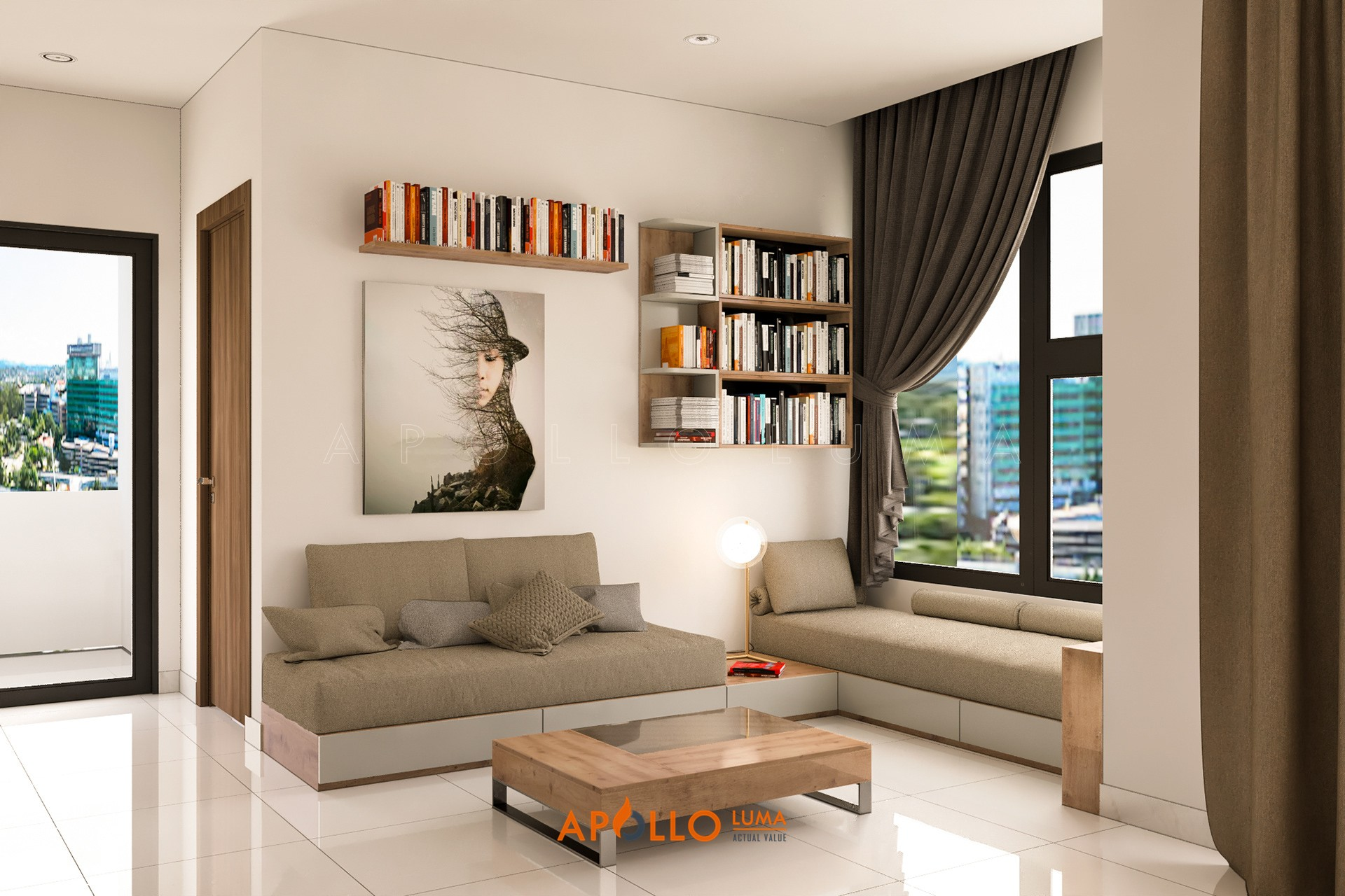 Thiết kế nội thất căn 2PN+2WC (65m2) S4.01-13 Vinhomes Smart City Tây Mỗ