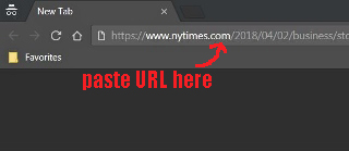 how to get around New York Times paywall via Chrome Incognito Window