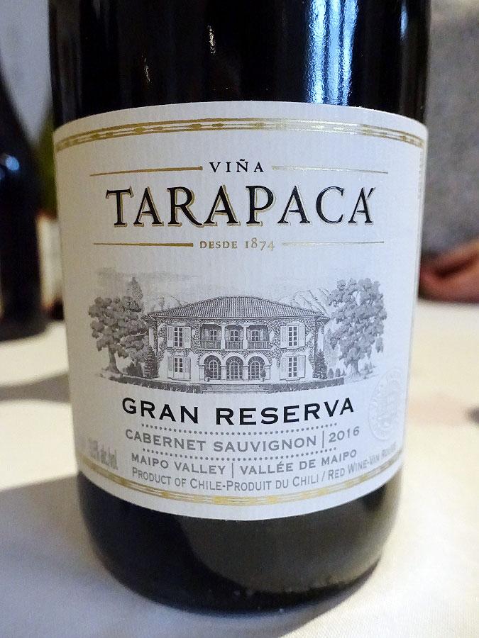 Viña Tarapacá Gran Reserva Cabernet Sauvignon 2016 (88 pts)