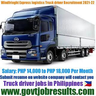 Windfreight Express Logistics Truck Driver Recruitment 2021-22