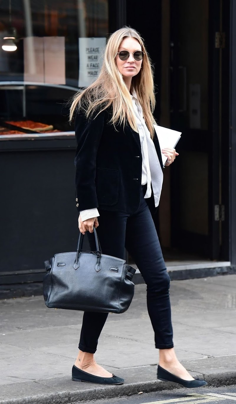 Kate Moss Clicked Outside in London 22 Apr-2021