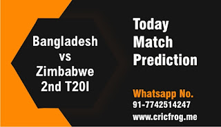 Who will win Today International 2nd match Zim vs Ban T20 2020?
