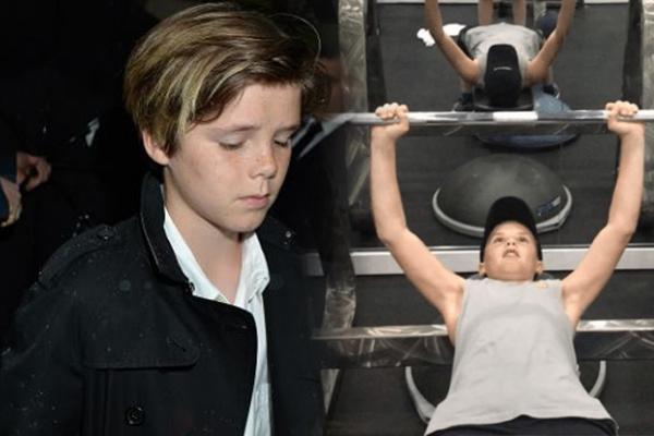 ابن الاعب الشهير دافيد بيكهام ذو 12 سنة يلعب كمال الاجسام و جماهير غاضبة عن ذلك