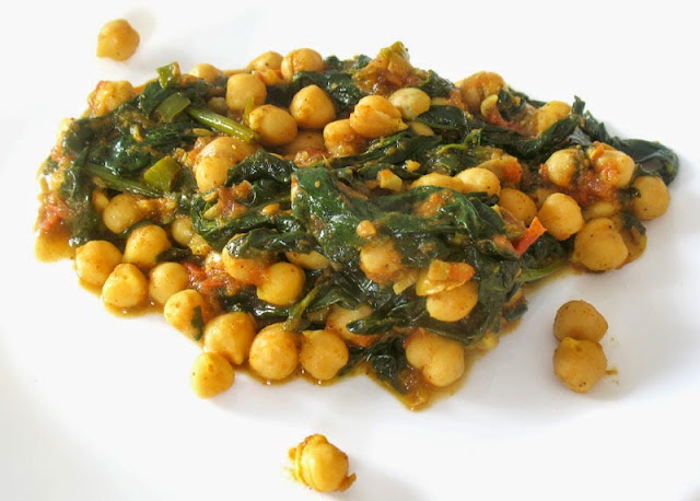 chickpeas and spinach