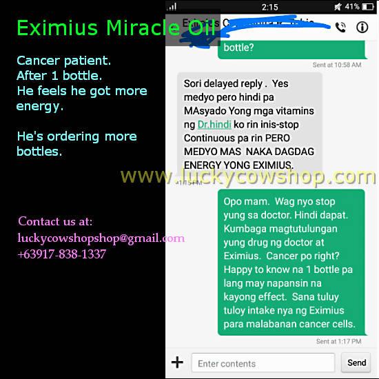 eximius cancer testimonial