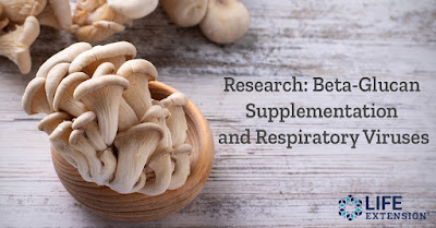 Preclinical and human research has found a benefit for beta-glucans against flu symptoms.