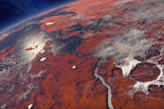 komposisi gas di atmosfer mars