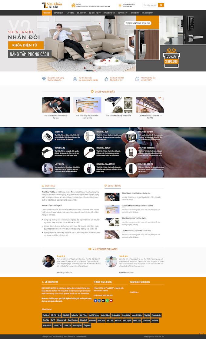 Mẫu website về Sửa khóa