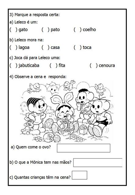 Atividades De Interpretação De Texto Para 1º Ano Do Ensino Fundamental