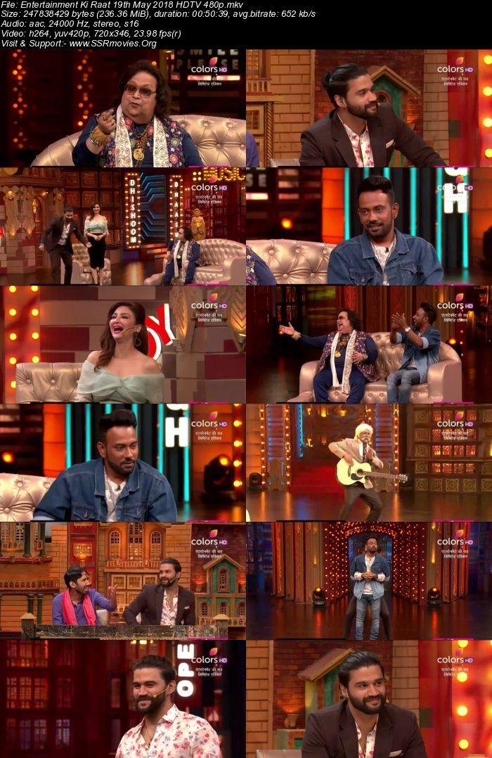 Entertainment Ki Raat 19th May 2018 HDTV 480p