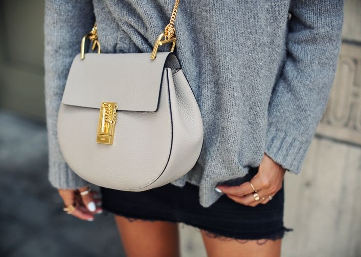 Sincerely Jules - Grey Chloe Drew Bag