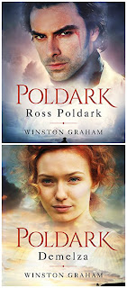Book covers: Ross Poldark and Demelza by Winston Graham