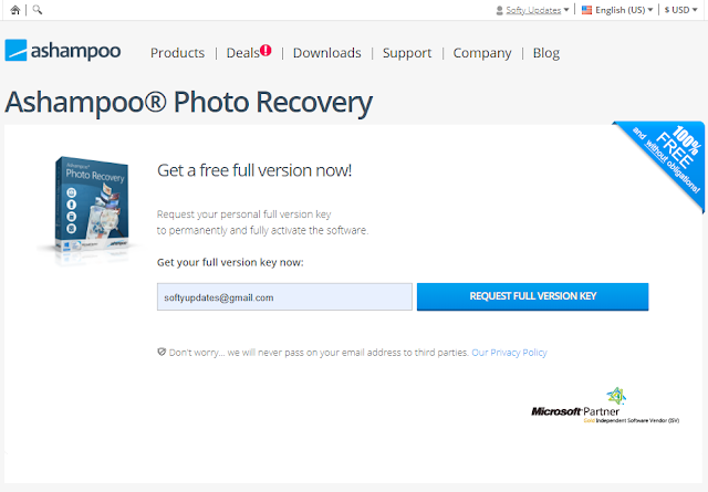 Giveaway: Ashampoo® Photo Recovery Free Full Version