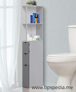 very narrow bathroom cabinet