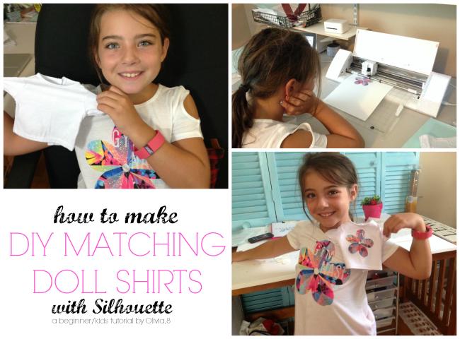 make DIY matching girl doll shirts Silhouette CAMEO