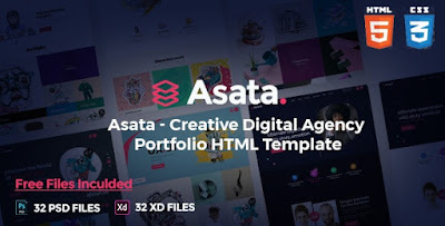 Asata V1.0 - Creative Digital Agency Portfolio Template
