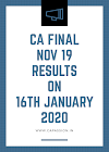 New Announcement by ICAI on CA Final Results of Nov 19