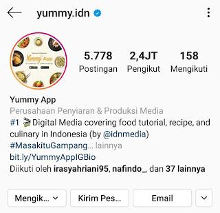 Instagram Yummy App