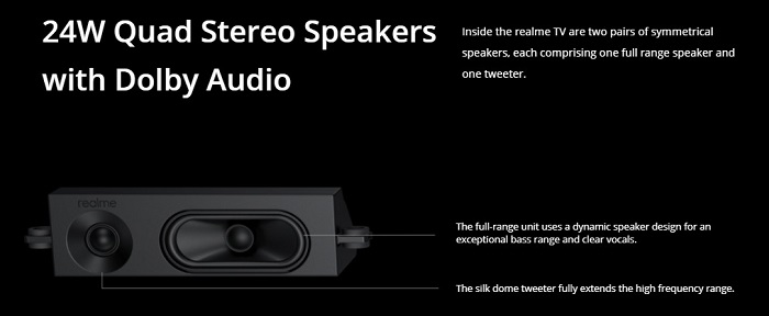 Realme Smart TV Speakers Specification