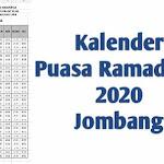 Download Kalender Puasa Ramadhan 2020 Jombang Format Gambar dan Excel