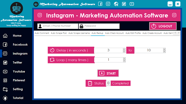 Cara Cepat Backup Data Instagram Secara Automatis