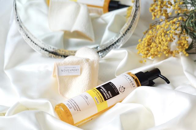 Novexpert Cleansing Oil With 5 Omegas Масло для демакияжа и очищения кожи с 5 Омега с хлопчатобумажной салфеткой