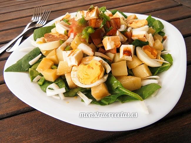 Ensalada de patata y otras verduras