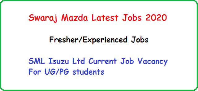 Swaraj Mazda Latest Jobs