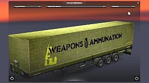 Army Schwarzmuller trailer