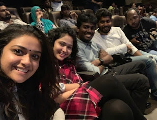 Keerthy Suresh with Cute and Lovely Smile with Atlee and PriyaAtlee